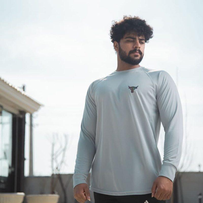 تیشرت استرج ورزشی مردانه آندر آرمور مدل ADN ROCK-0220 سفید لایف استایل