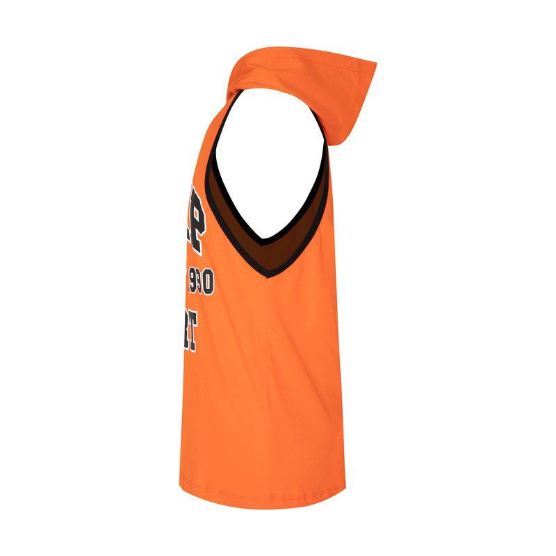 رکابی کلاه دار ورزشی مردانه الیمپ مدل GB-1990 نارنجی