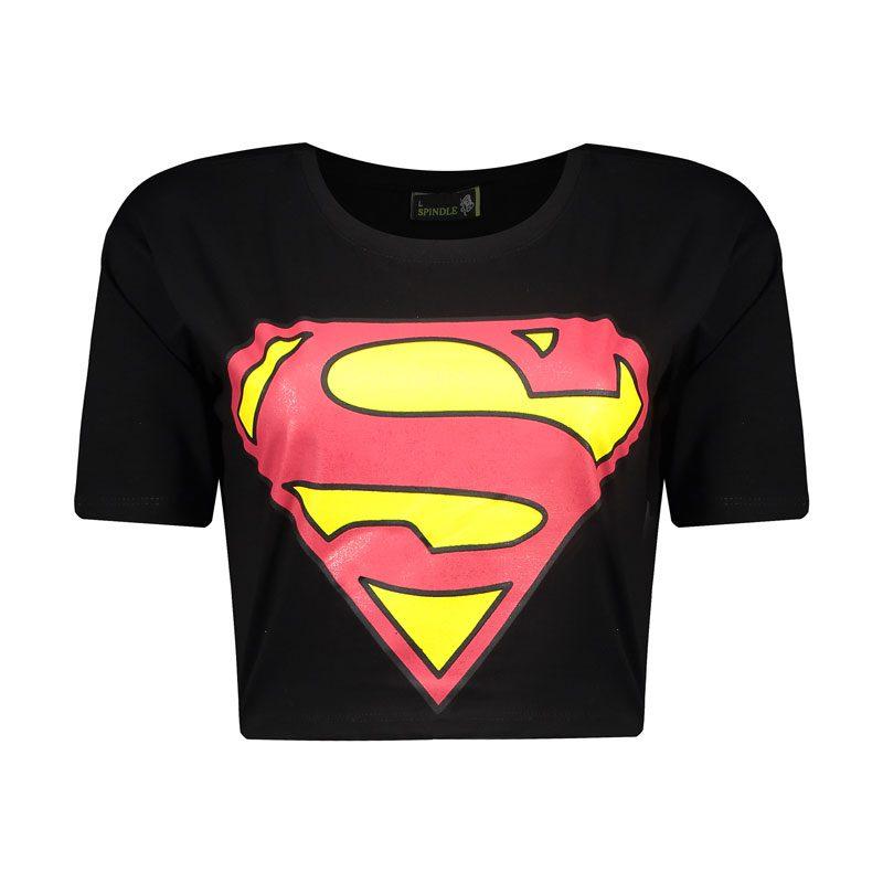 نیم تنه ورزشی زنانه سوپرمن مدل SPL-0513 مشکی